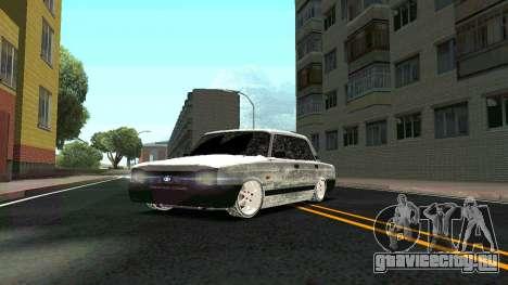 ВАЗ 2107 Classic 2 Зимняя версия для GTA San Andreas вид сбоку
