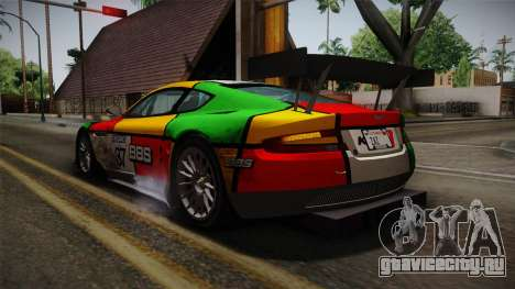 Aston Martin Racing DBRS9 GT3 2006 v1.0.6 Dirt для GTA San Andreas