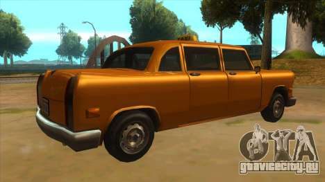 VC Cabbie Xbox для GTA San Andreas вид справа