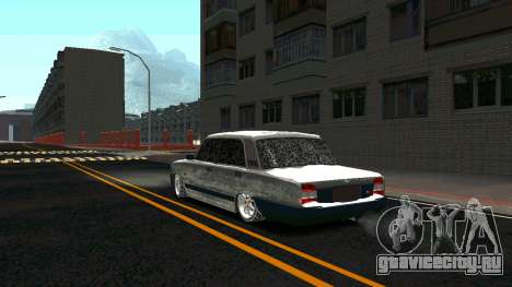 ВАЗ 2107 Classic 2 Зимняя версия для GTA San Andreas вид сзади слева