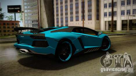 Lamborghini Aventador Itasha Rias Gremory для GTA San Andreas вид слева
