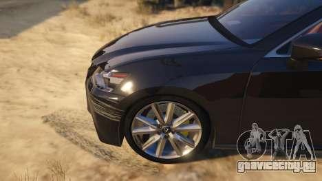 Lexus GS 350 для GTA 5 вид сзади справа
