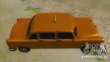 VC Cabbie Xbox для GTA San Andreas вид изнутри
