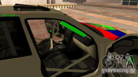Toyota Altezza Armenian для GTA San Andreas вид изнутри