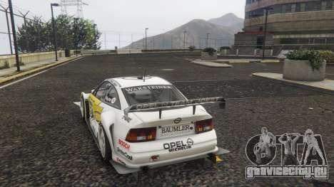 Opel Calibra DTM для GTA 5 вид сзади слева