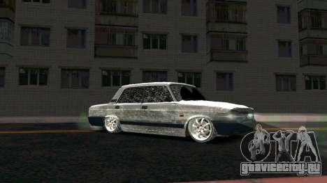 ВАЗ 2107 Classic 2 Зимняя версия для GTA San Andreas вид сзади