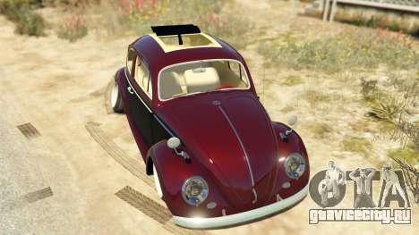 Volkswagen Beetle для GTA 5 вид сзади