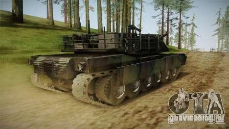 Abrams Tank Woolant Camo для GTA San Andreas вид сзади слева