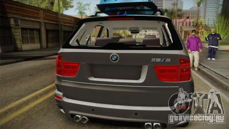 BMW X5M 2012 Special для GTA San Andreas вид сзади