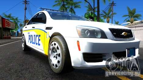 Chevy Caprice Metro Police 2013 для GTA San Andreas вид справа