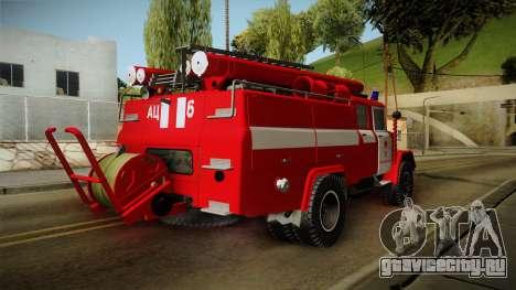 ЗиЛ 131 Амур Пожарная Машина для GTA San Andreas вид сзади слева