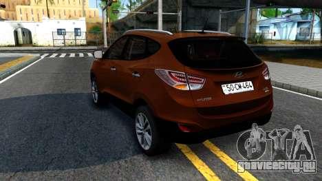 Hyundai ix35 Aze для GTA San Andreas вид сзади слева