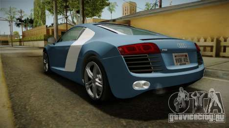Audi R8 Coupe 4.2 FSI quattro EU-Spec 2008 YCH для GTA San Andreas вид сзади слева
