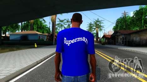 T-Shirt SuperMan для GTA San Andreas третий скриншот