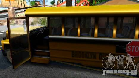 School Bus Driver Parallel Lines для GTA San Andreas вид изнутри