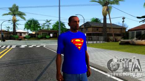 T-Shirt SuperMan для GTA San Andreas второй скриншот