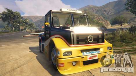 Ftruck Mercedes L Series v2 для GTA 5 вид сзади