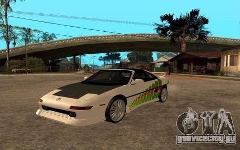 Toyota MR2 GT для GTA San Andreas вид сзади