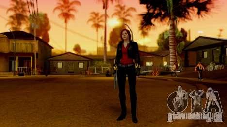 Resident Evil Revelations 2 - Claire Biker для GTA San Andreas третий скриншот