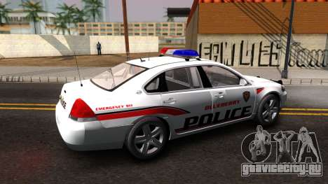 Chevy Impala Blueberry PD 2009 для GTA San Andreas вид слева