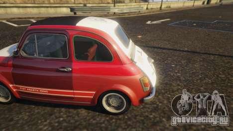 Fiat Abarth 595ss Racing ver для GTA 5 вид сзади справа