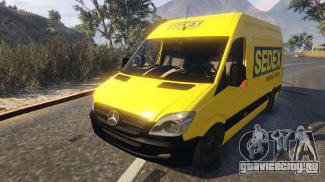 CORREIOS Sedex Mercedes Sprinter для GTA 5 вид сзади