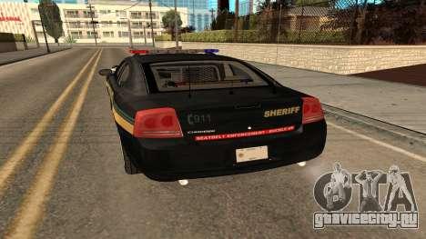 Dodge Charger County Sheriff для GTA San Andreas вид справа