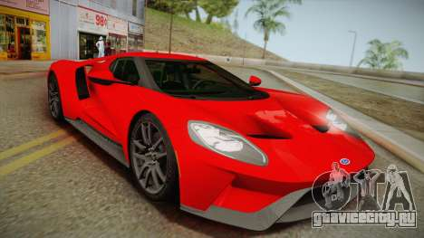 Ford GT 2017 No Stripe для GTA San Andreas