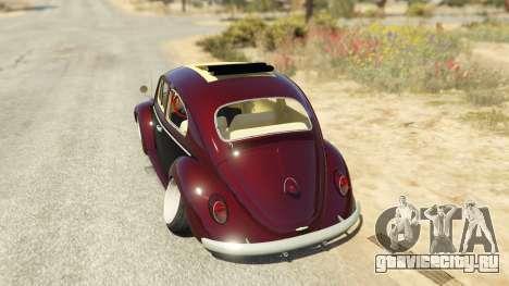 Volkswagen Beetle для GTA 5 вид сзади слева