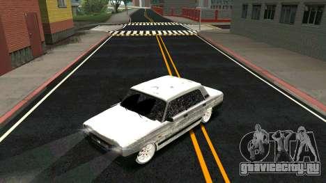 ВАЗ 2107 Classic 2 Зимняя версия для GTA San Andreas вид сверху