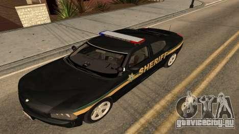 Dodge Charger County Sheriff для GTA San Andreas вид сзади слева