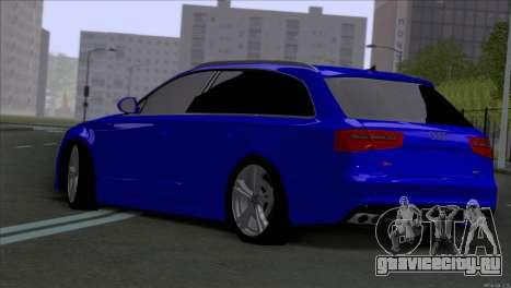 AUDI RS6 2014 для GTA San Andreas вид сзади слева