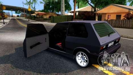 Yugo Koral 45 Sport Tuning для GTA San Andreas вид изнутри