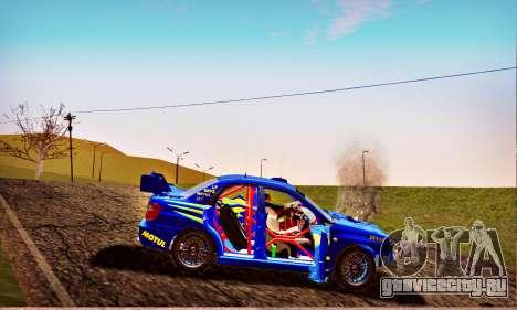 Subaru Impreza WRX STI WRC Rally 2005 для GTA San Andreas вид снизу