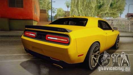 Dodge Challenger Hellcat 2015 для GTA San Andreas вид слева