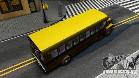 School Bus Driver Parallel Lines для GTA San Andreas вид сзади