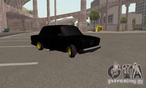 Ваз 2107 Блек Джек для GTA San Andreas