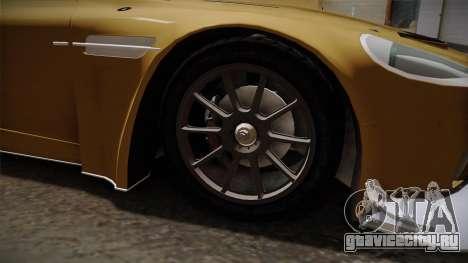 Aston Martin Racing DBRS9 GT3 2006 v1.0.6 YCH для GTA San Andreas вид сзади