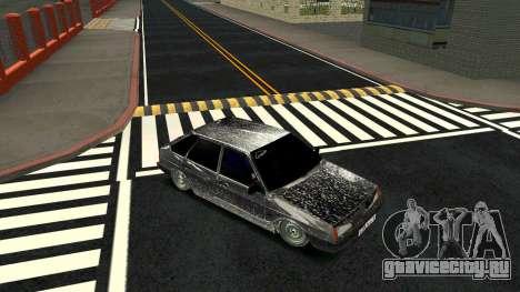 ВАЗ 2109 Зимняя версия для GTA San Andreas вид сзади