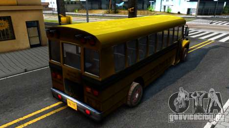 School Bus Driver Parallel Lines для GTA San Andreas вид сзади слева