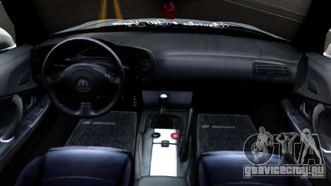 Honda S2000 для GTA San Andreas вид изнутри