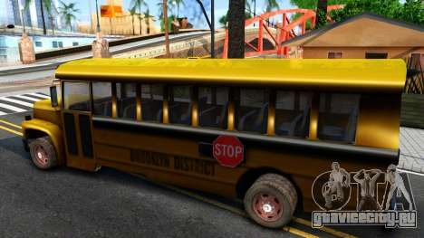 School Bus Driver Parallel Lines для GTA San Andreas вид слева