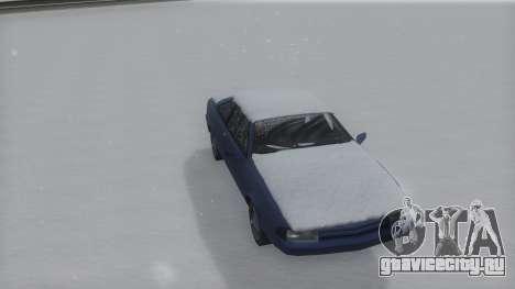 Cadrona Winter IVF для GTA San Andreas вид сзади слева