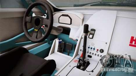 Aston Martin Racing DBRS9 GT3 2006 v1.0.6 YCH для GTA San Andreas вид изнутри