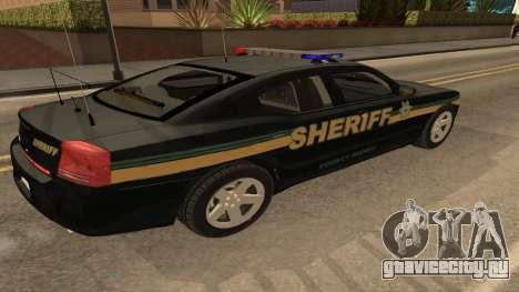 Dodge Charger County Sheriff для GTA San Andreas вид слева
