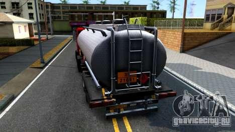GTA V MTL Dune Oil Tanker для GTA San Andreas вид сзади слева