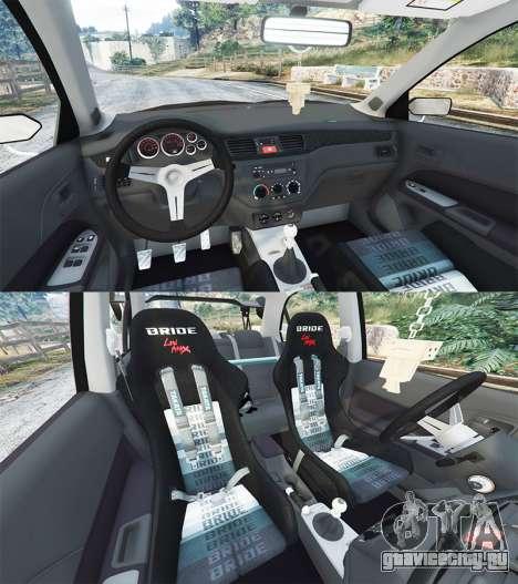 Mitsubishi Lancer Evolution IX Stormtrooper [r] для GTA 5 вид спереди справа