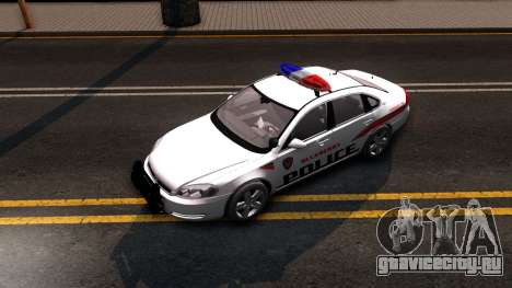 Chevy Impala Blueberry PD 2009 для GTA San Andreas вид сзади