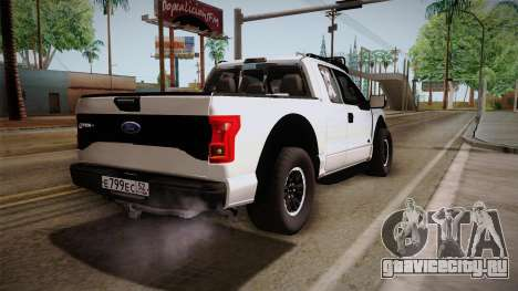 Ford Raptor для GTA San Andreas вид справа