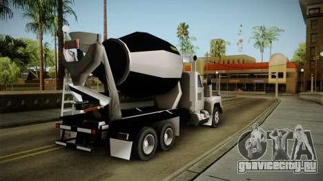 Realistic Cement Truck для GTA San Andreas